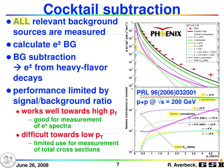 Cocktail subtraction