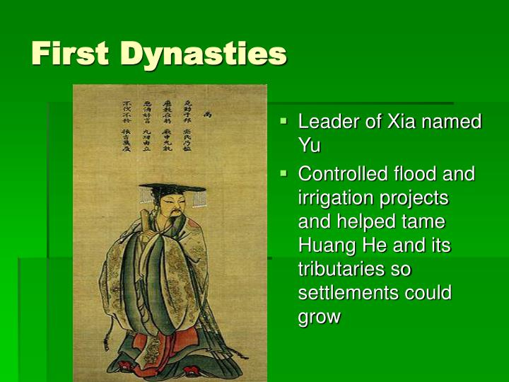 First Dynasties
