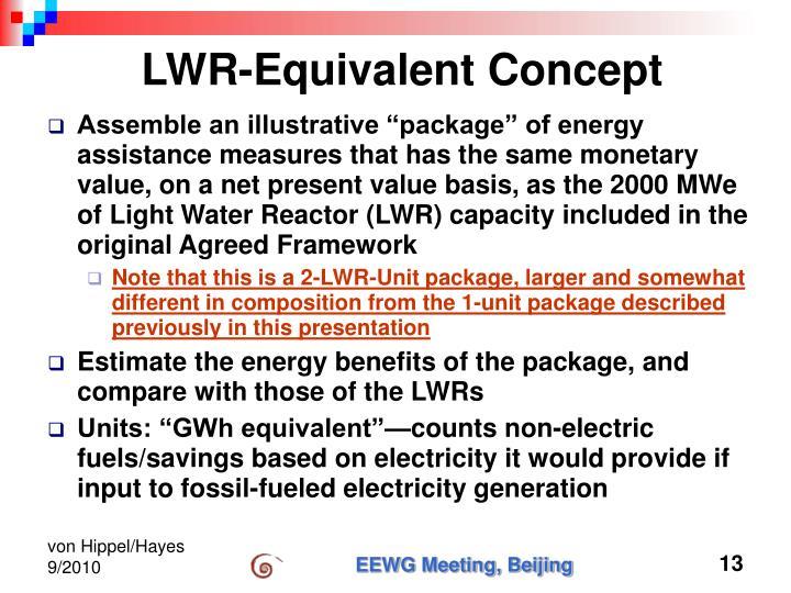 LWR-Equivalent Concept