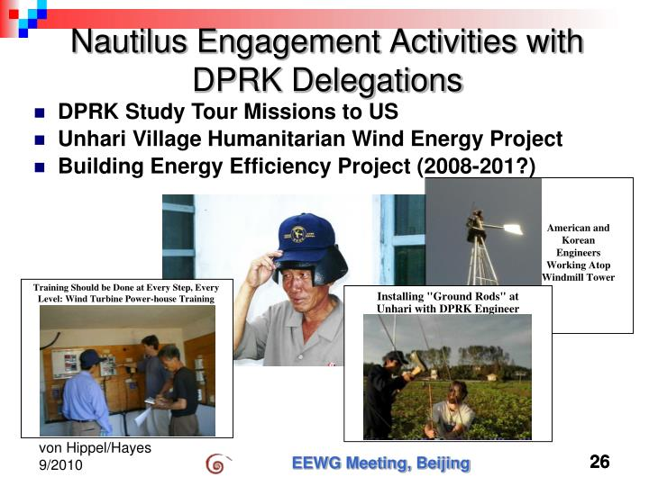 Nautilus Engagement Activities with DPRK Delegations
