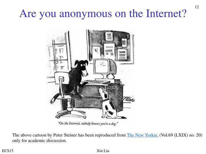 Are you anonymous on the Internet?