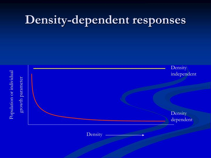 Density-dependent responses