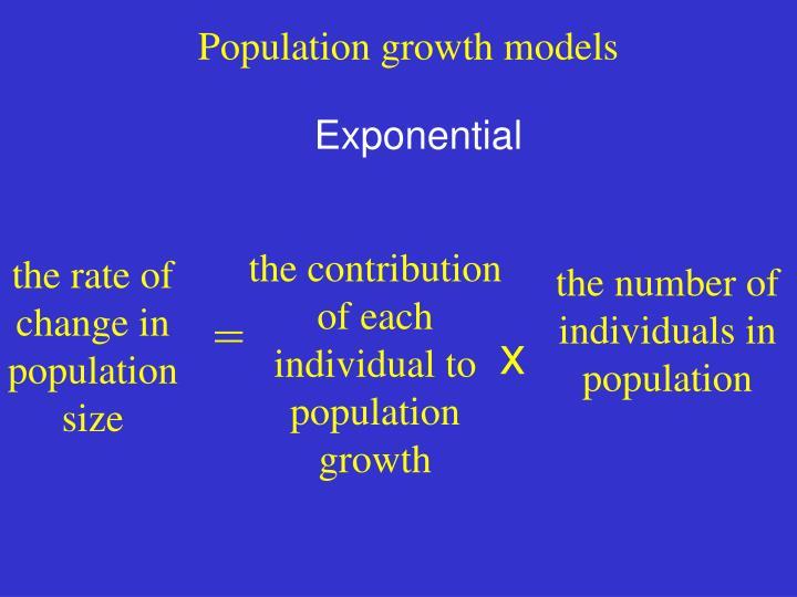 Population growth models