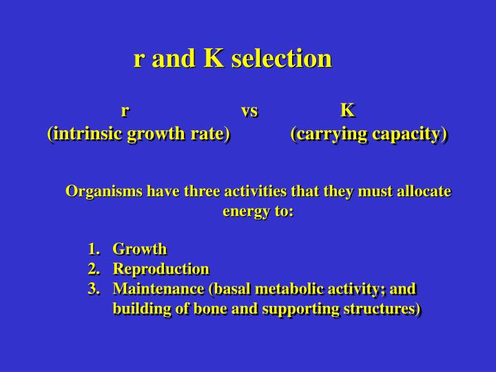 r and K selection
