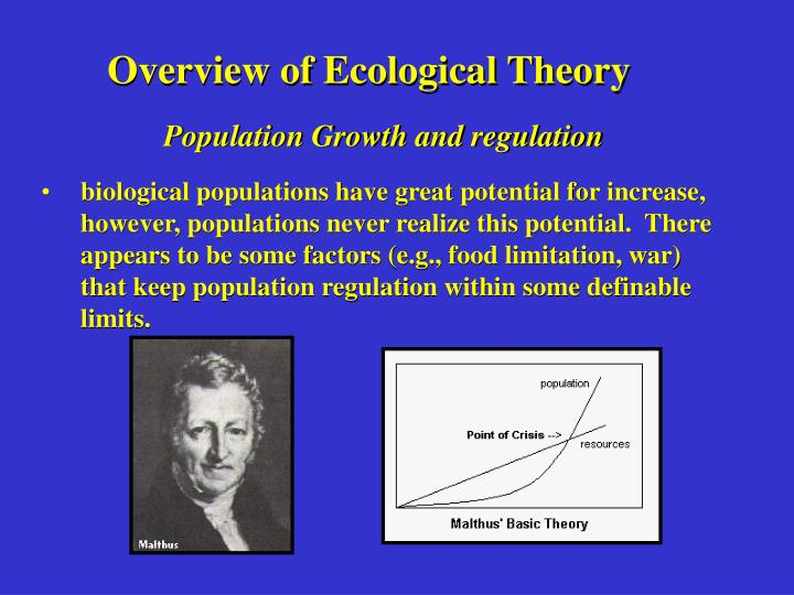 Overview of Ecological Theory