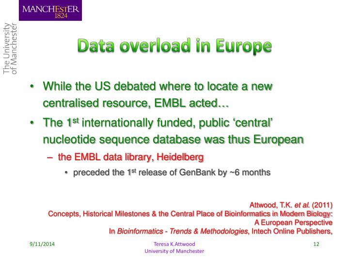 Data overload in Europe