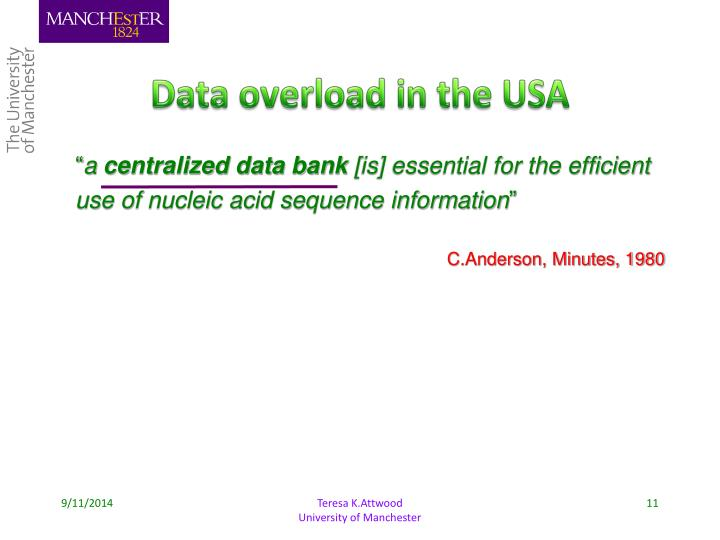 Data overload in the USA