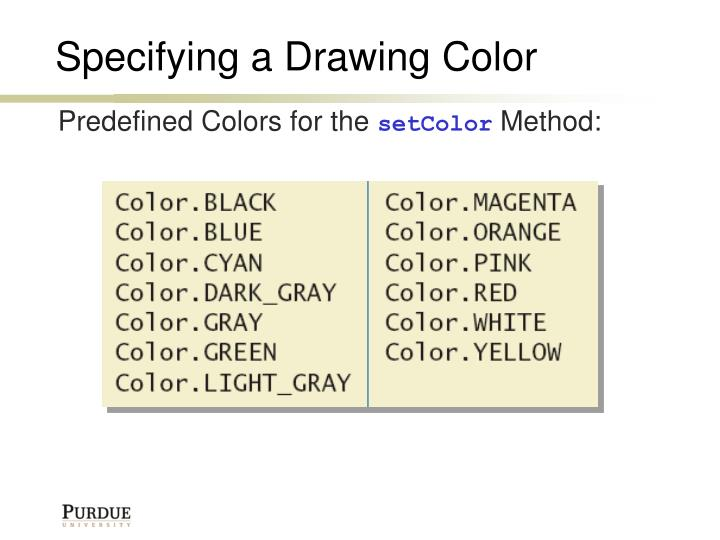 Specifying a Drawing Color