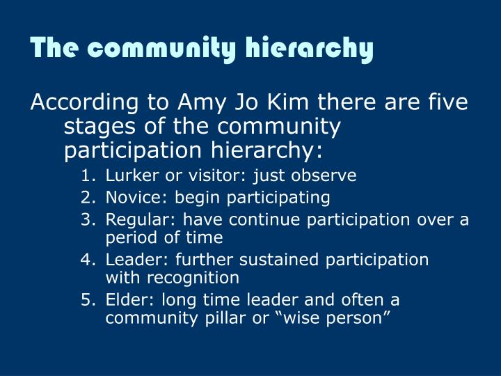 The community hierarchy