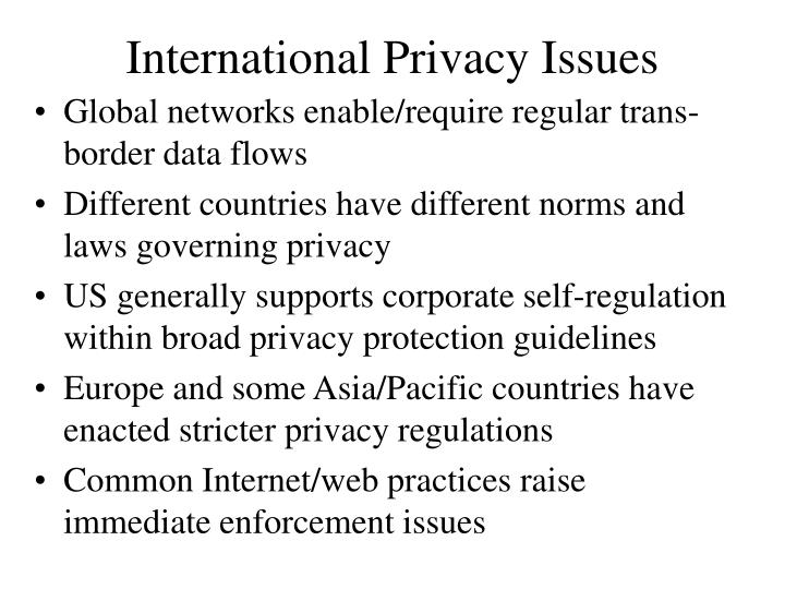 International Privacy Issues
