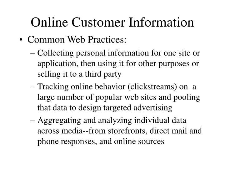 Online Customer Information