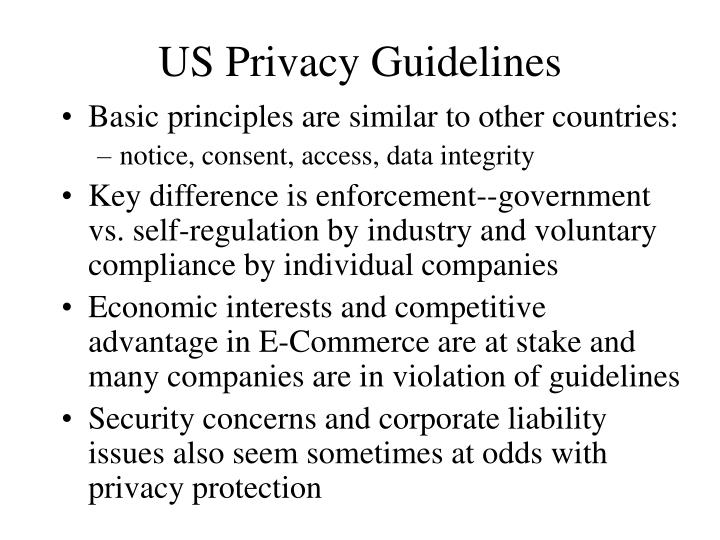 US Privacy Guidelines