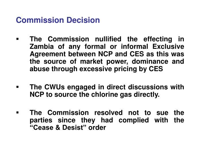 Commission Decision