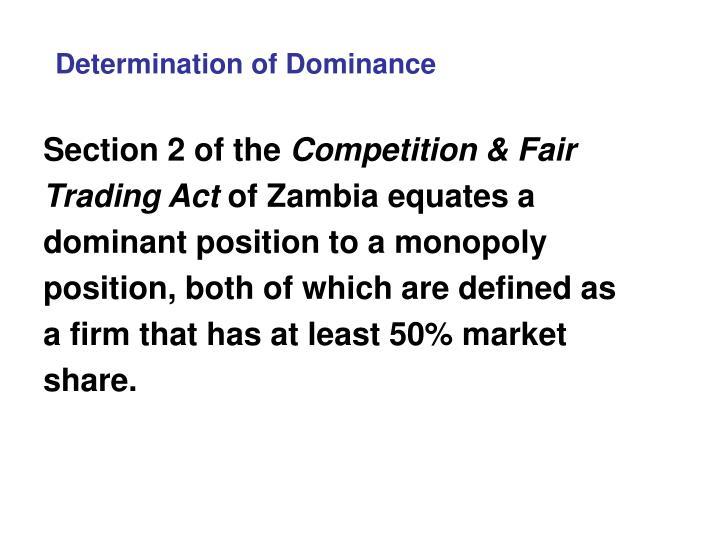 Determination of Dominance