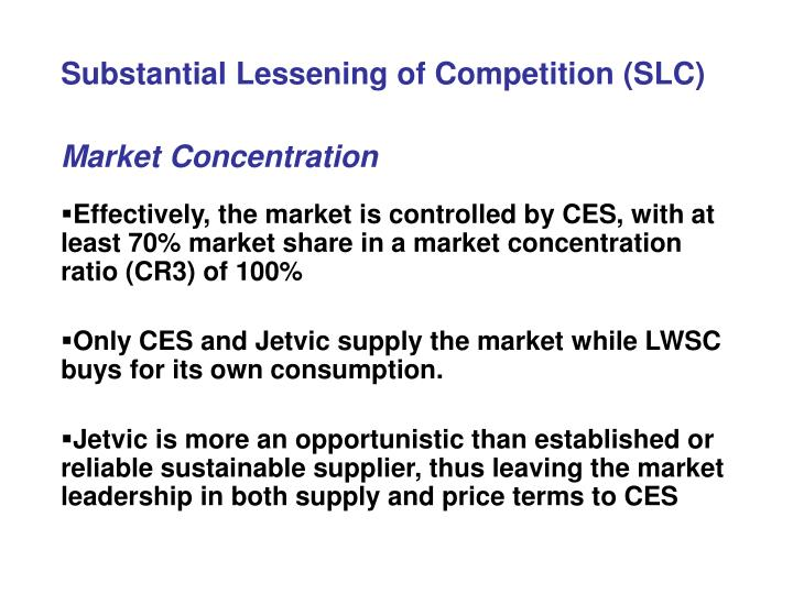 Substantial Lessening of Competition (SLC)
