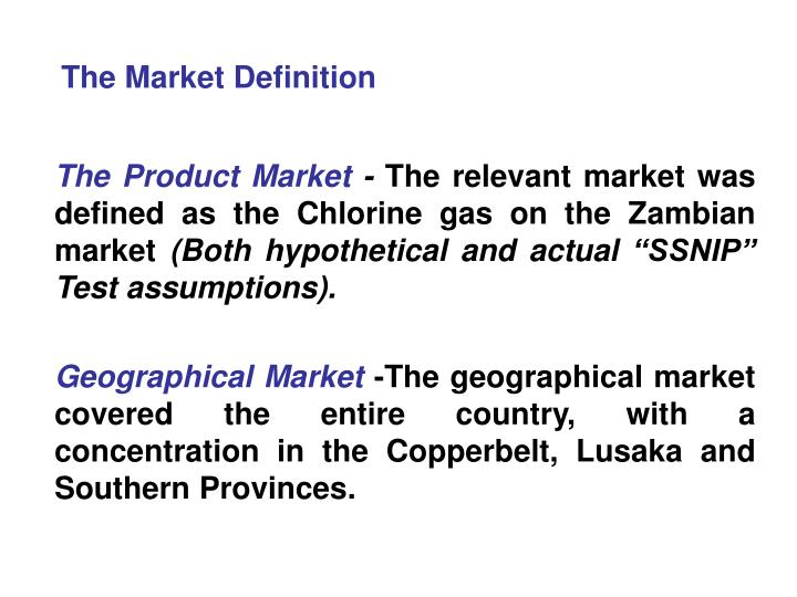 The Market Definition