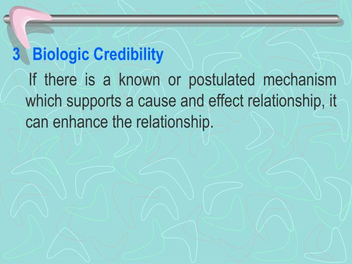 3   Biologic Credibility