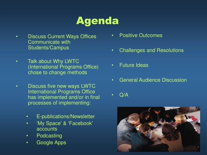 Discuss Current Ways Offices Communicate with Students/Campus
