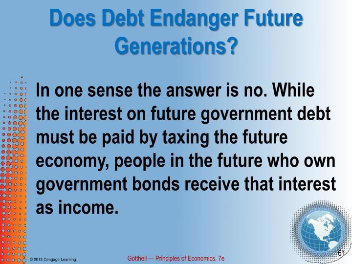 Does Debt Endanger Future Generations?