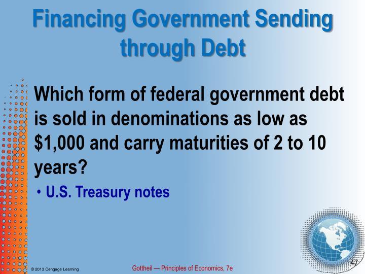Financing Government Sending through Debt