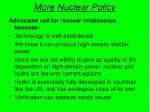 more nuclear policy