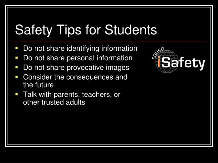 Safety Tips for Students