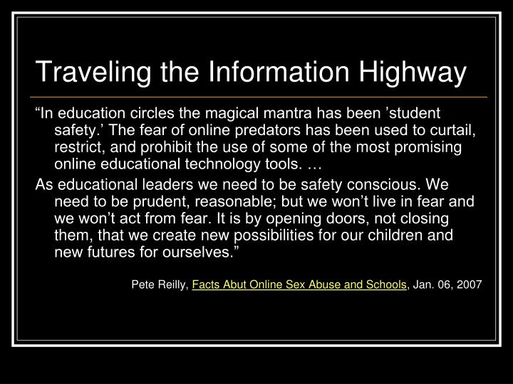 Traveling the Information Highway