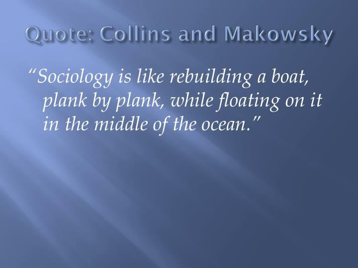 Quote: Collins and