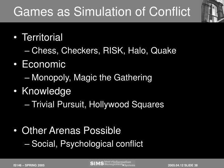 Games as Simulation of Conflict