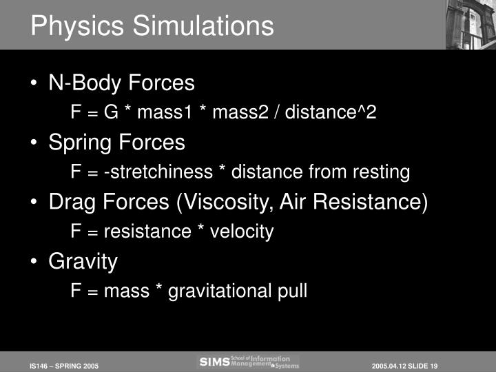 Physics Simulations