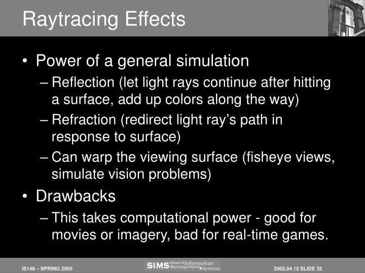 Raytracing Effects