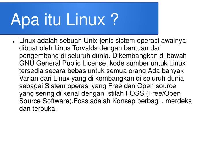 Apa itu Linux ?
