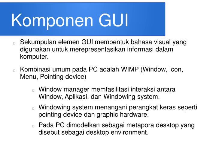 Komponen GUI