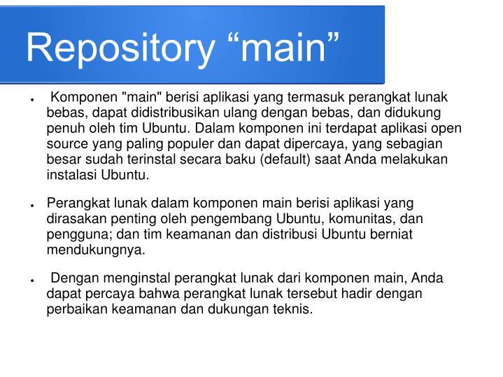 """Repository """"main"""""""