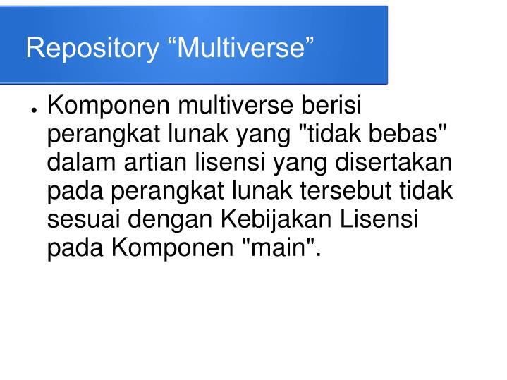 "Repository ""Multiverse"""