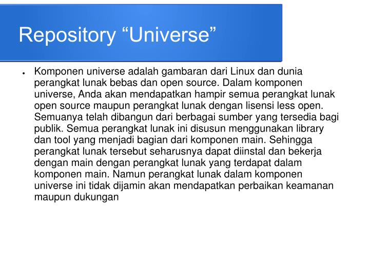 "Repository ""Universe"""