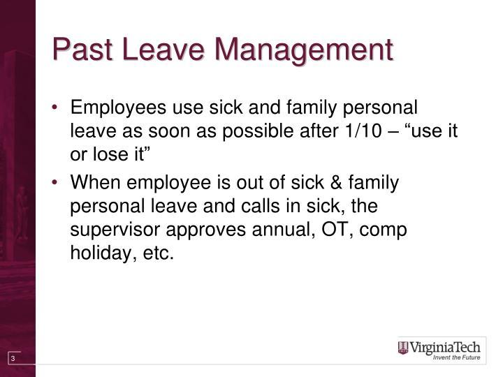 Past Leave Management