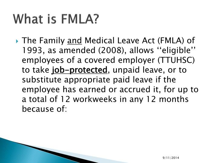What is fmla