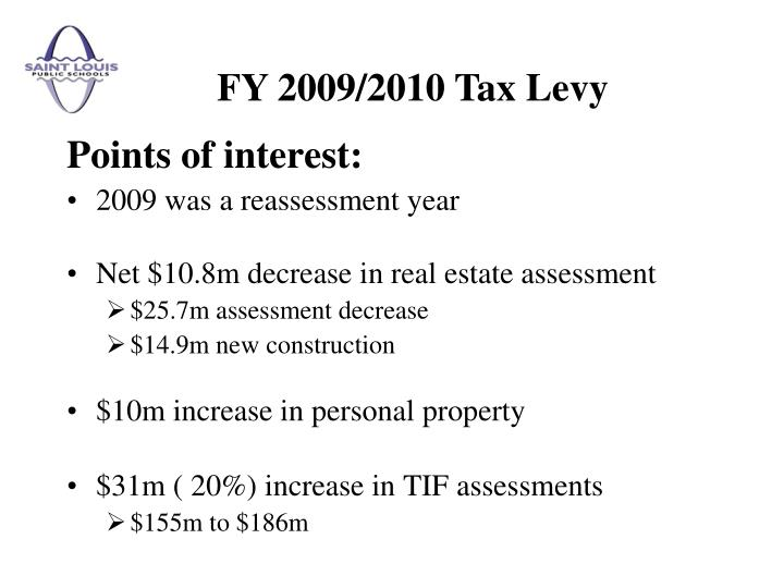 FY 2009/2010 Tax Levy