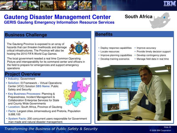 Gauteng Disaster Management Center