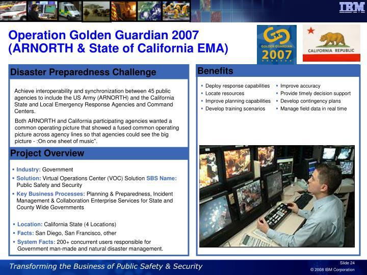 Operation Golden Guardian 2007