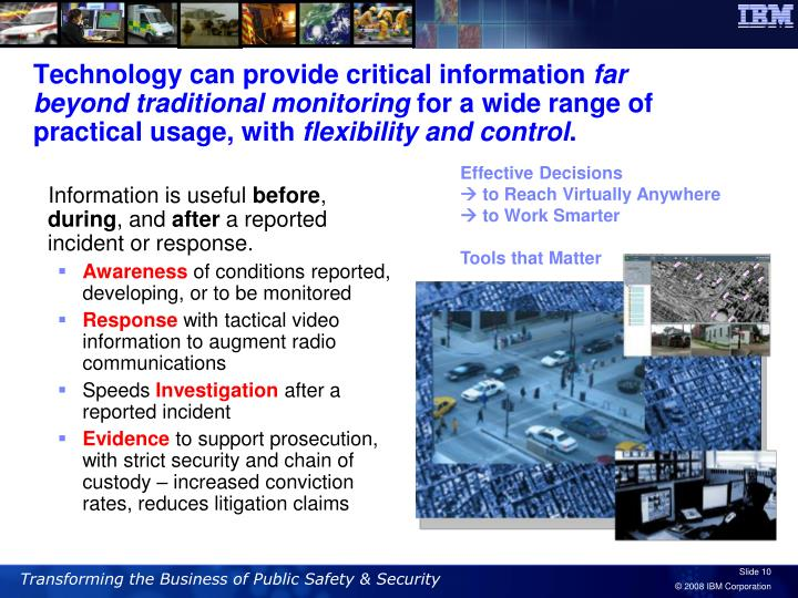 Technology can provide critical information