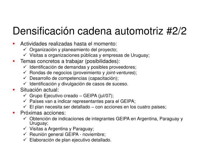 Densificación cadena automotriz #2/2