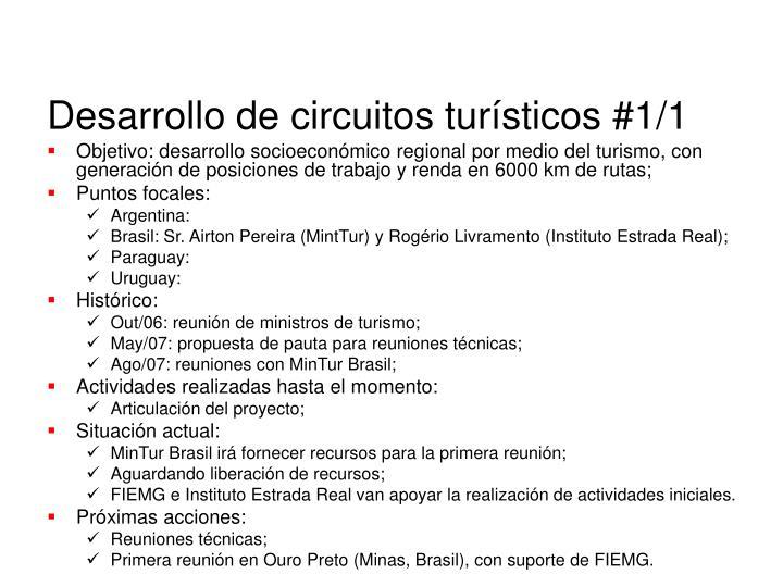 Desarrollo de circuitos turísticos #1/1