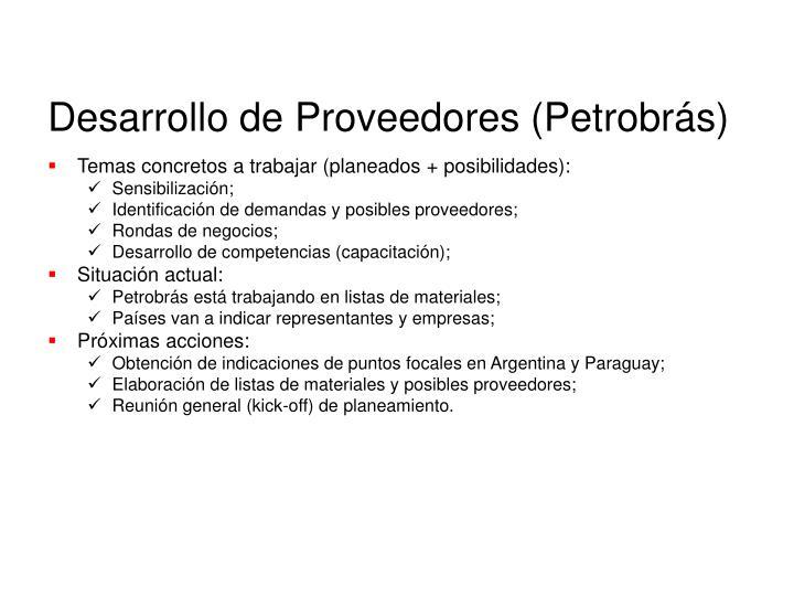 Desarrollo de Proveedores (Petrobrás)
