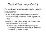 capital tax levy con t1