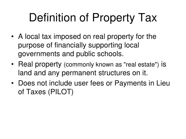 Definition of property tax