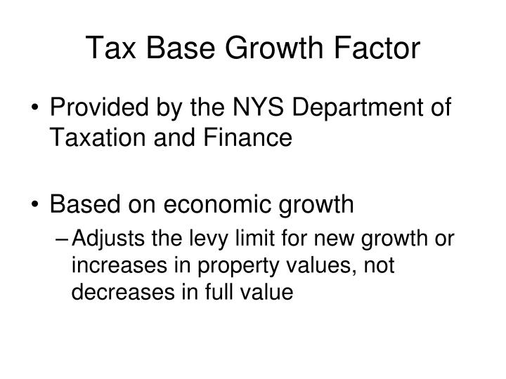 Tax Base Growth Factor