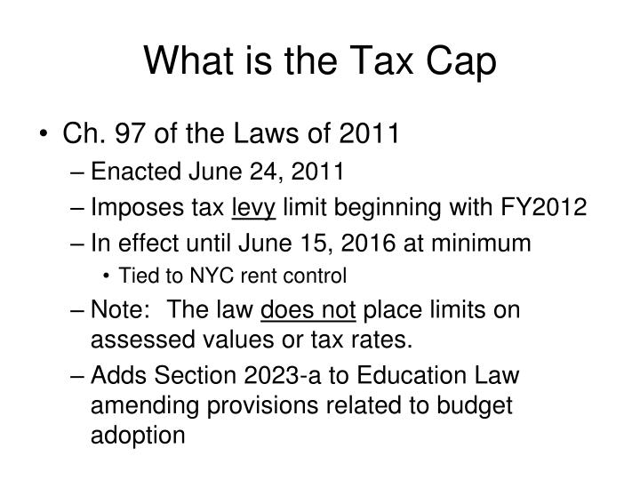 What is the tax cap