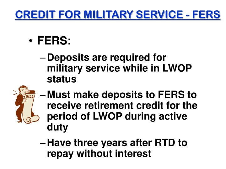 CREDIT FOR MILITARY SERVICE - FERS